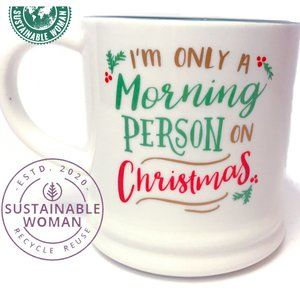 NWOT FUNNY Christmas HUMOROUS Quotes Saying MUG